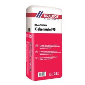Клей для приклеивания пенополистирола и минеральной ваты Krautol 90 25 кг